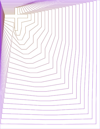 Goud en Purple Lined Kruis Achtergrond Stock Illustratie