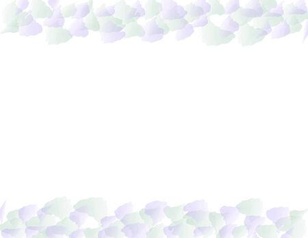 bordering: Hojas y p�talos de color azul sobre fondo blanco que limitan con Vectores
