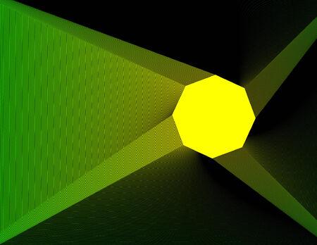 yellow adventure: Pinwheel on dark green background