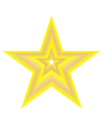 Golden Star Stock Vector - 5853706