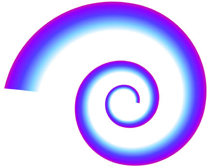 Blue-Purple Spiral on white background Ilustração