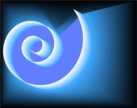 Blue-white spiral on black background