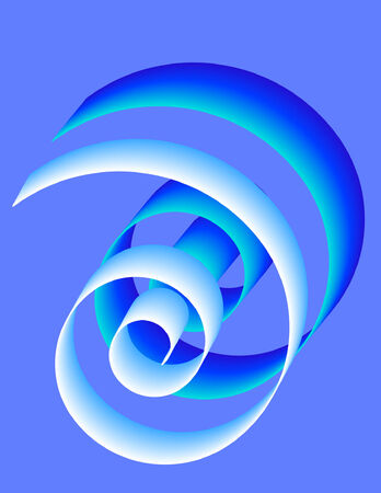 Blue-White Spiral on blue background Çizim