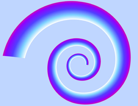 Spiral on blue bacground