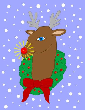 Rudolph Иллюстрация