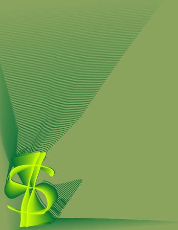 aerate: Segno di dollaro stilizzato su sfondo verde