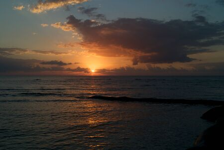 carribean: Sunrise over the Carribean Sea