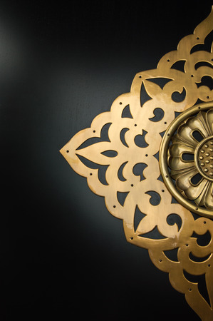 craving: A half of golden craved pattern on Asakusa temple door in Japan