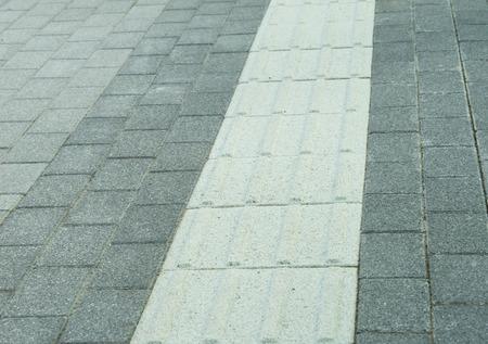 blinder: Track on footpath for blinders