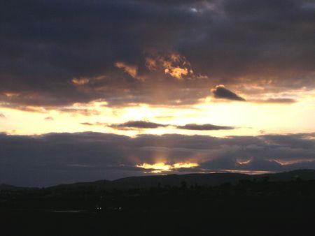 sunrise at the bay Stock Photo