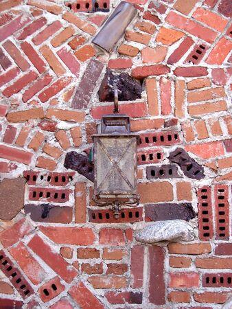a lamp in bricks