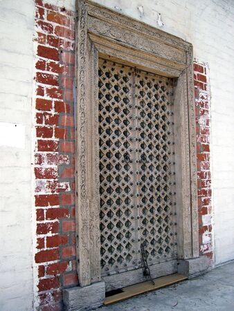 medevil 木製ドア 1 写真素材