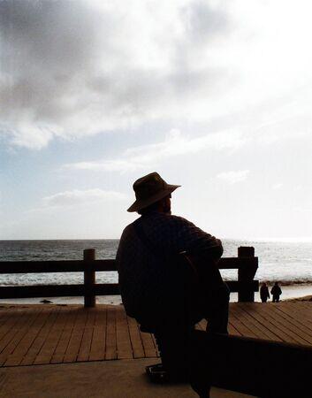 beach side guitarist