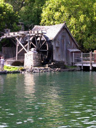 Water Wheel House         Stock Photo