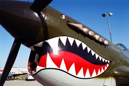 A vintage flying Tiger airplane