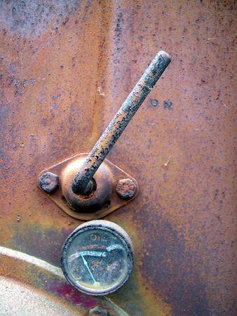 rusty trucks oil gauge
