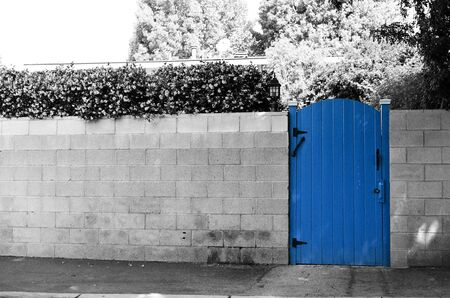 The blue gate Stock Photo