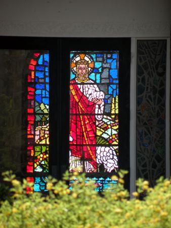 Jesus in the window