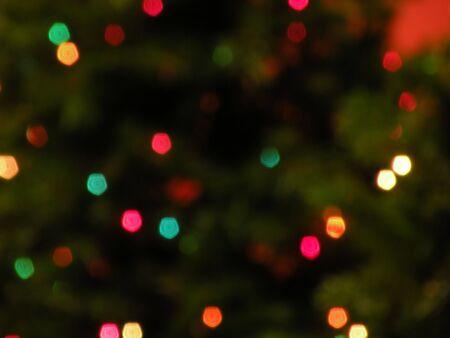 ぼやけクリスマス ライト 写真素材