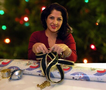 Holiday wrapping Stock Photo