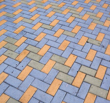 blue, yellow, and grey brick                              写真素材