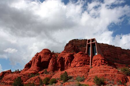 The Church of the Hoky Cross, which is built into the rock, in Sedona Arizona 写真素材