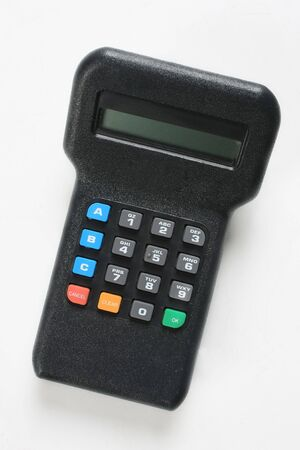 Credit card machine key pad Stock Photo
