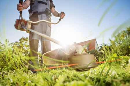 Gardening with a brushcutter
