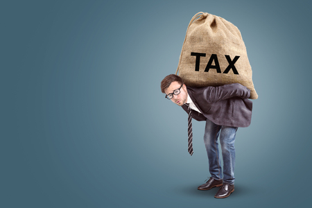 Tax burden concept with copy space