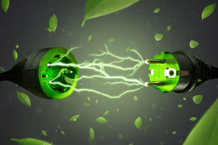 Green energy electricity concept