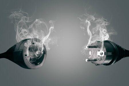 Enchufe y enchufe para fumar Foto de archivo