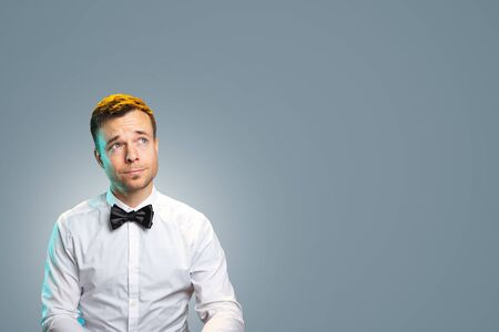 Portrait of a man looking sideways
