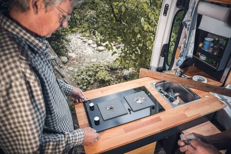 Installation of a stove into a camper van