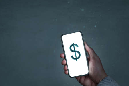 Smartphone screen showing a dollar sign