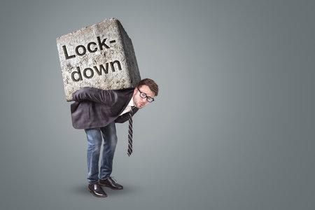 Businessman burdened by the lockdown