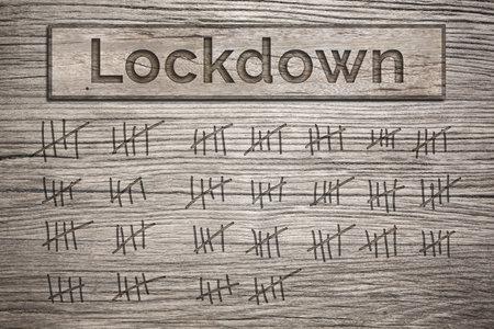 Lockdown duration count - markings on wood