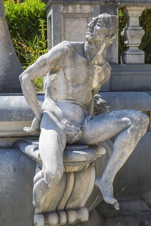 allegoric: Allegoric stone male statue