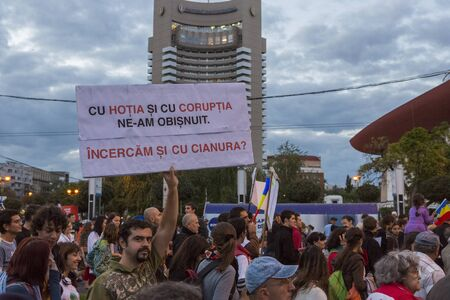People protest against cyanide gold extraction in Rosia Montana on Sept 22, 2013 in Bucharest, Romania