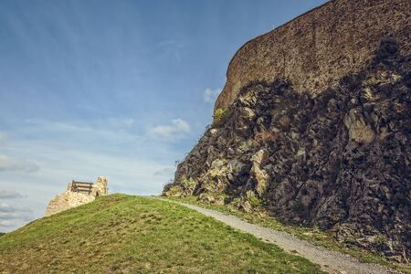 archaeological sites: Fortified walls of the medieval Rupea citadel, one of the oldest archaeological sites in Romania.