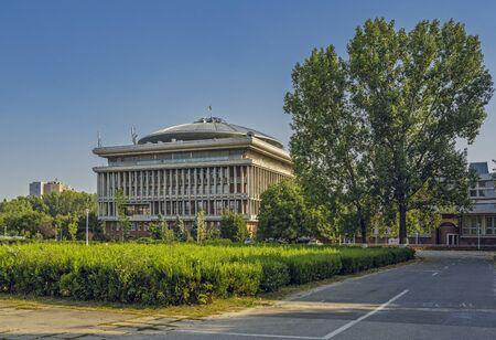 technical university: Bucharest, Romania - August 14, 2013: Politehnica University of Bucharest, the largest technical university in Romania, founded in 1864.