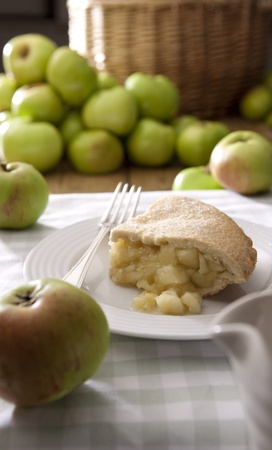 Home baked apple pie Stock Photo