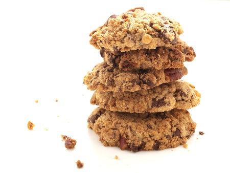 Home baked cookie stack photo