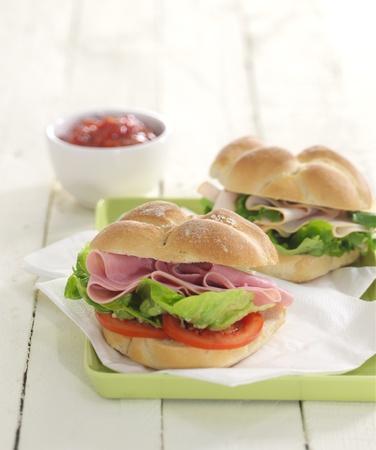 Ham salad rolls
