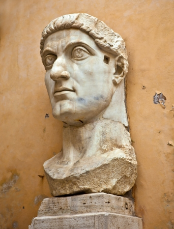 Statue Head of Constantine Stock Photo