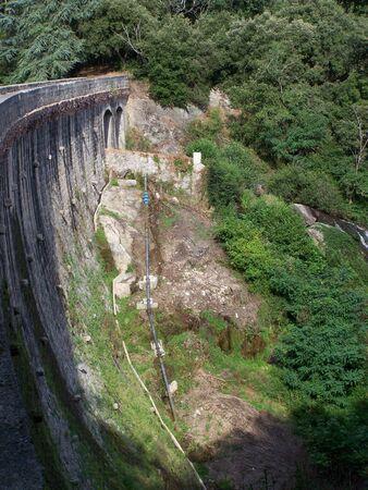 barrage: barrage de cenne monesties (Aude) Frrance Stock Photo