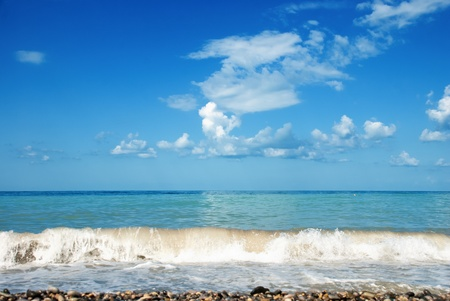 seascape with beautiful blue skies photo
