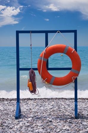 rescue service: Lifebuoy  Rescue Service on the beach