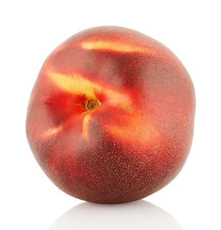 Nectarine isolated on white background Stock Photo - 14937708