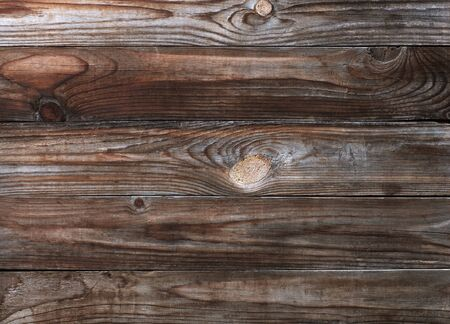 There is a lot of space for copy on this photograph of an old wood background  Stock Photo