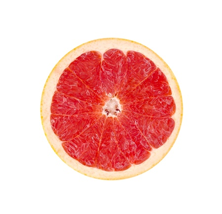 Red Grapefruit Portion On White Stock Photo - 15704512
